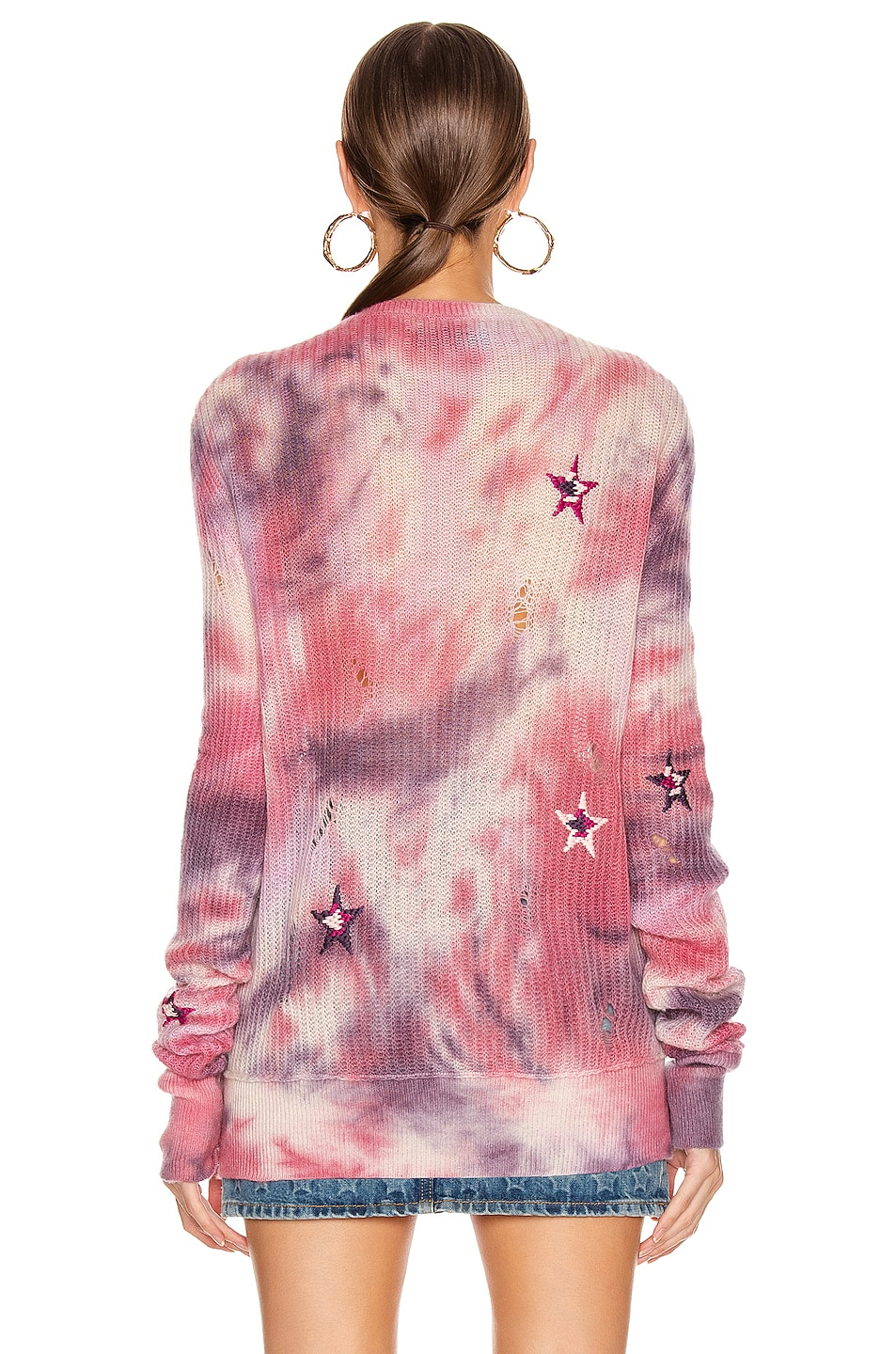 Image 3 of Amiri Tie Dye Stars Sweater in Multi Color