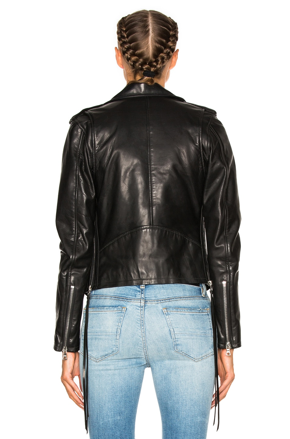 Image 5 of Amiri New Vitellino Rider Jacket in Black