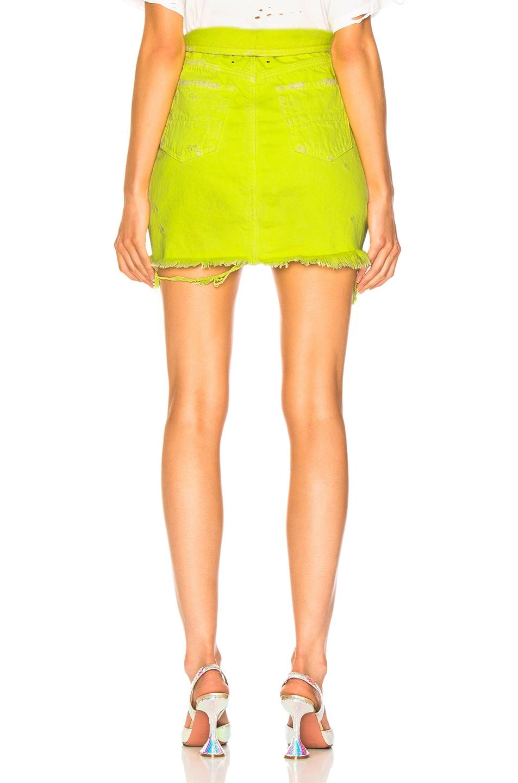 Image 3 of Amiri Fold Over Skirt in Neon Yellow