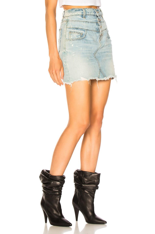 Image 2 of Amiri Double Waist Skirt in Super Light Indigo