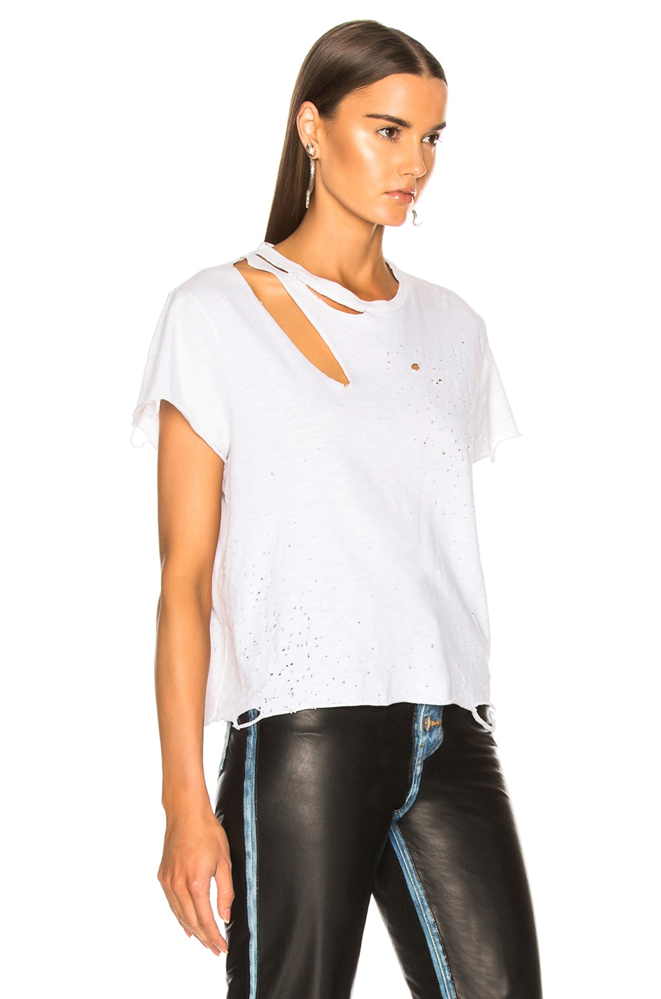 Image 2 of Amiri Cropped Slash Tee in White