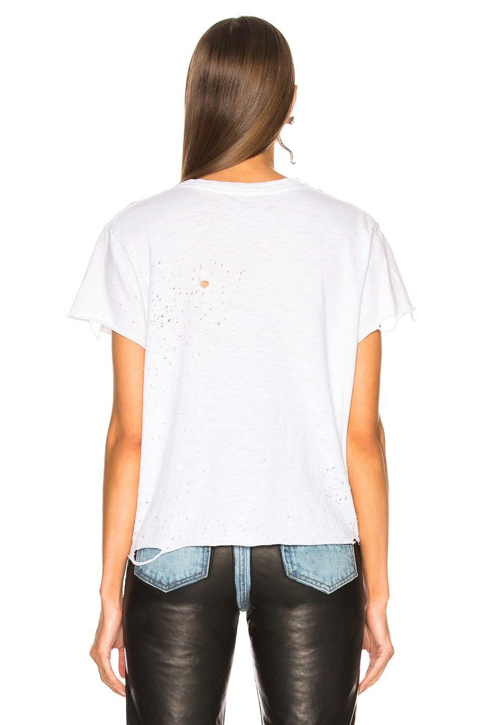 Image 3 of Amiri Cropped Slash Tee in White