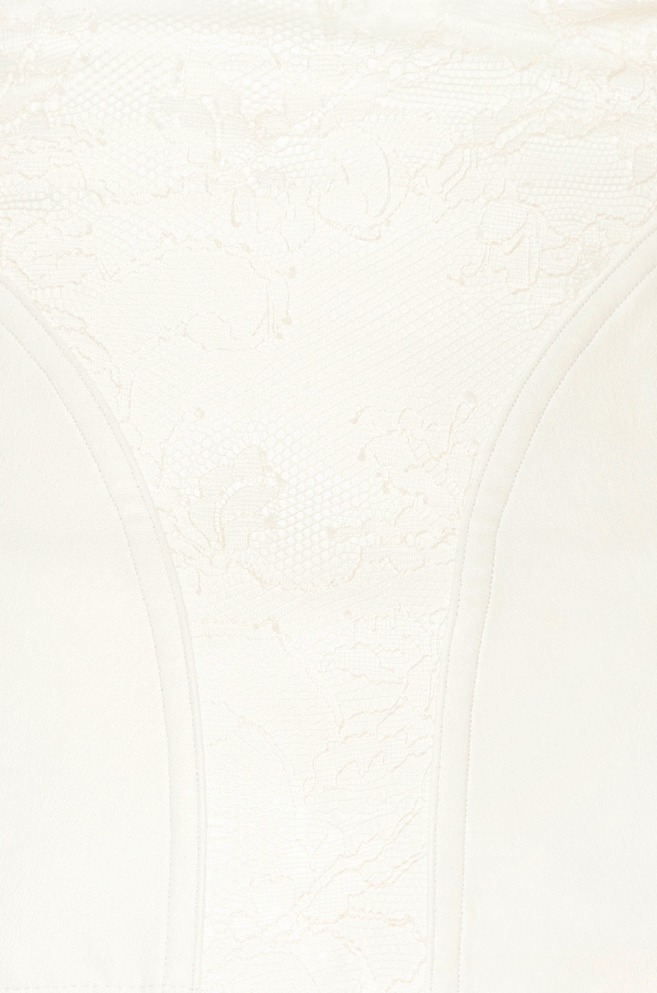 Image 6 of Amiri Lace Leather Corset Top in White