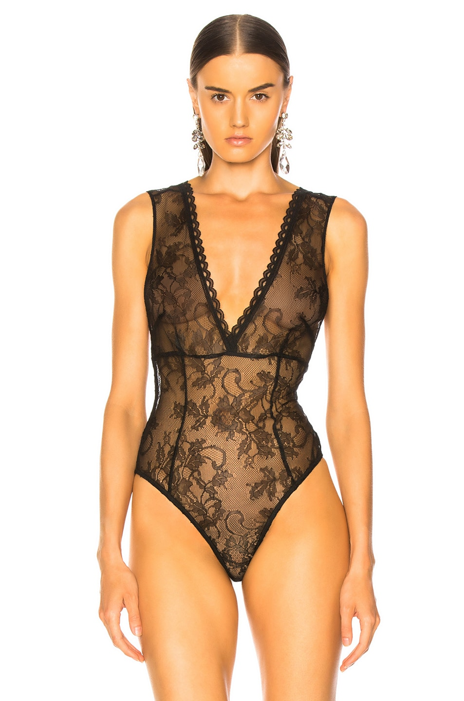 Image 2 of Amiri Lacy Bodysuit in Black