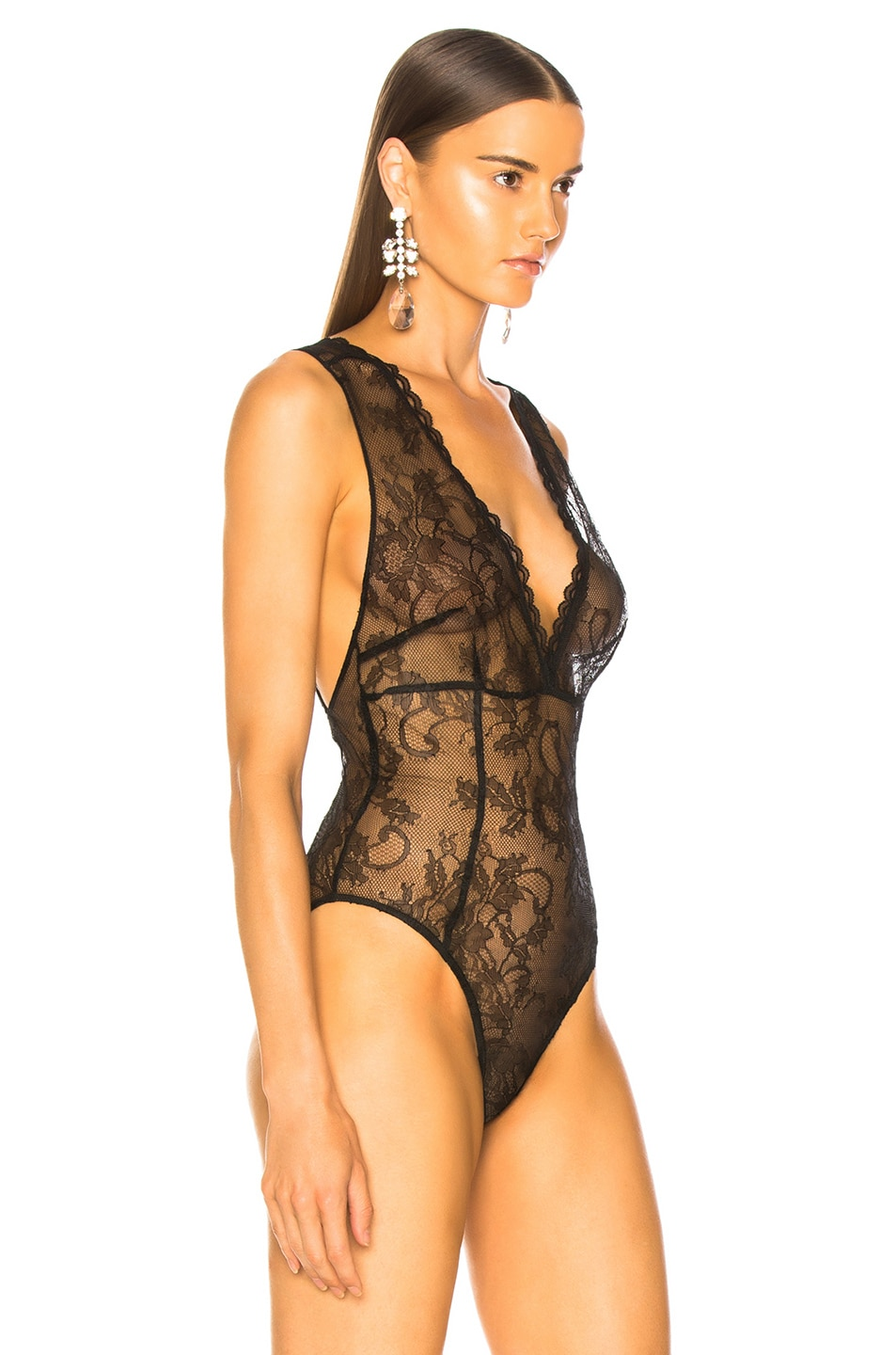 Image 3 of Amiri Lacy Bodysuit in Black