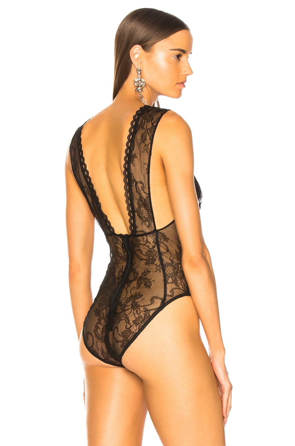 Image 4 of Amiri Lacy Bodysuit in Black