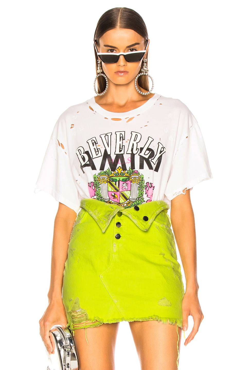 Image 1 of Amiri Beverly Hills Boyfriend Tee in White