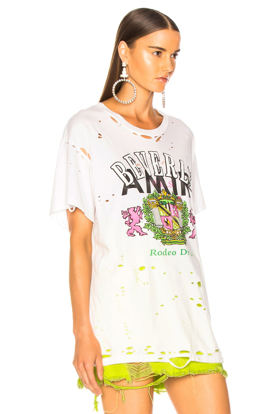Image 3 of Amiri Beverly Hills Boyfriend Tee in White