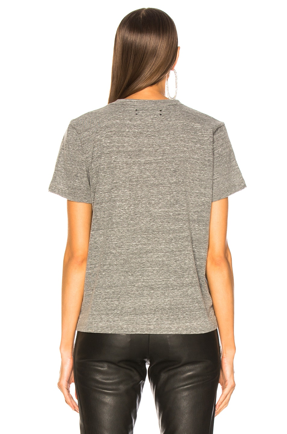 Image 4 of Amiri Tee in Heather Grey & Neon Yellow