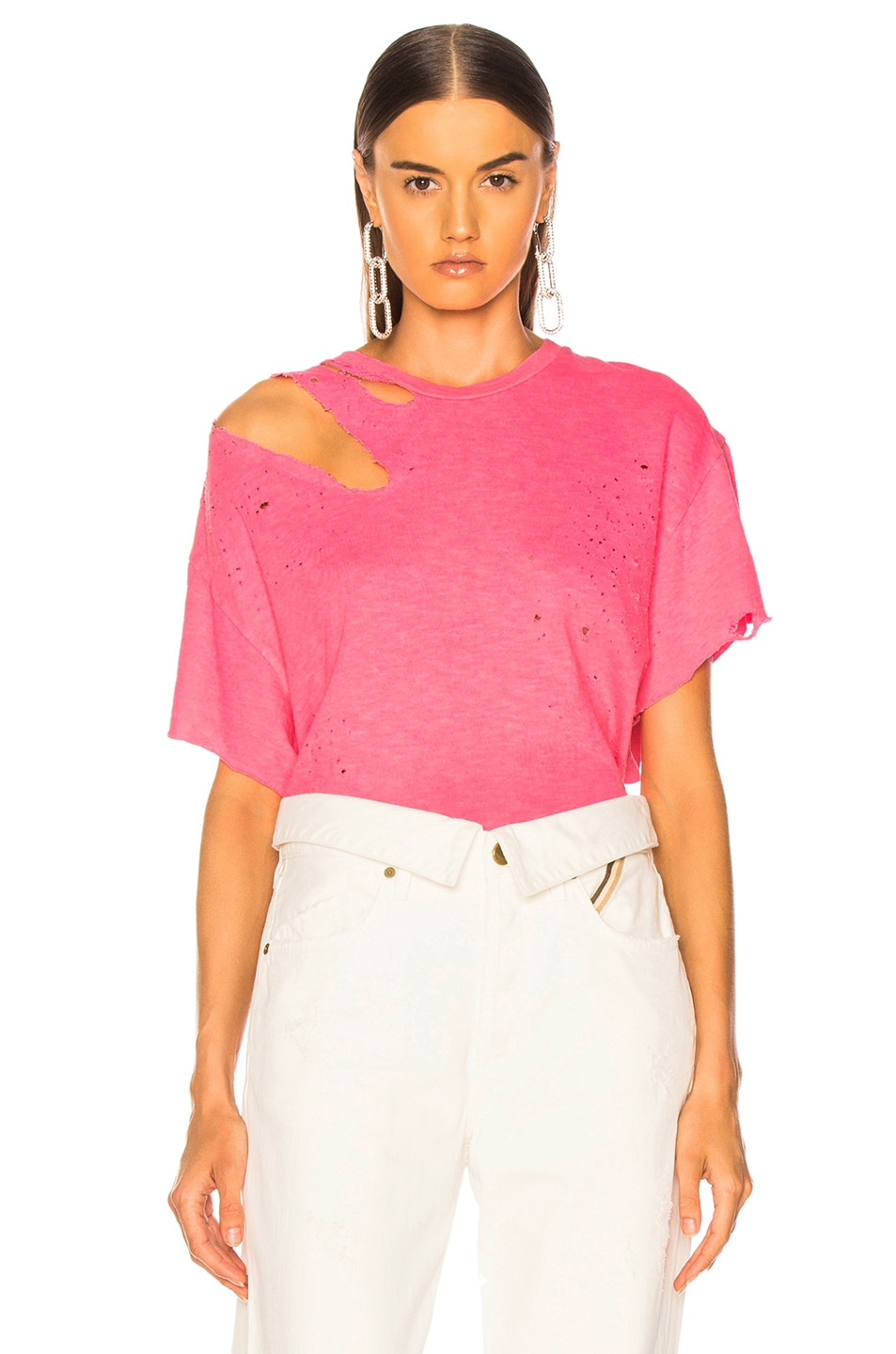 Image 1 of Amiri Slash Tee in Neon Pink