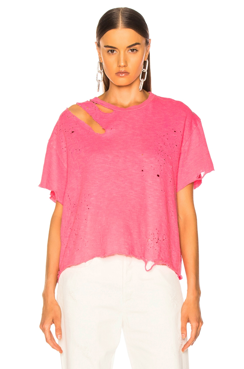 Image 2 of Amiri Slash Tee in Neon Pink