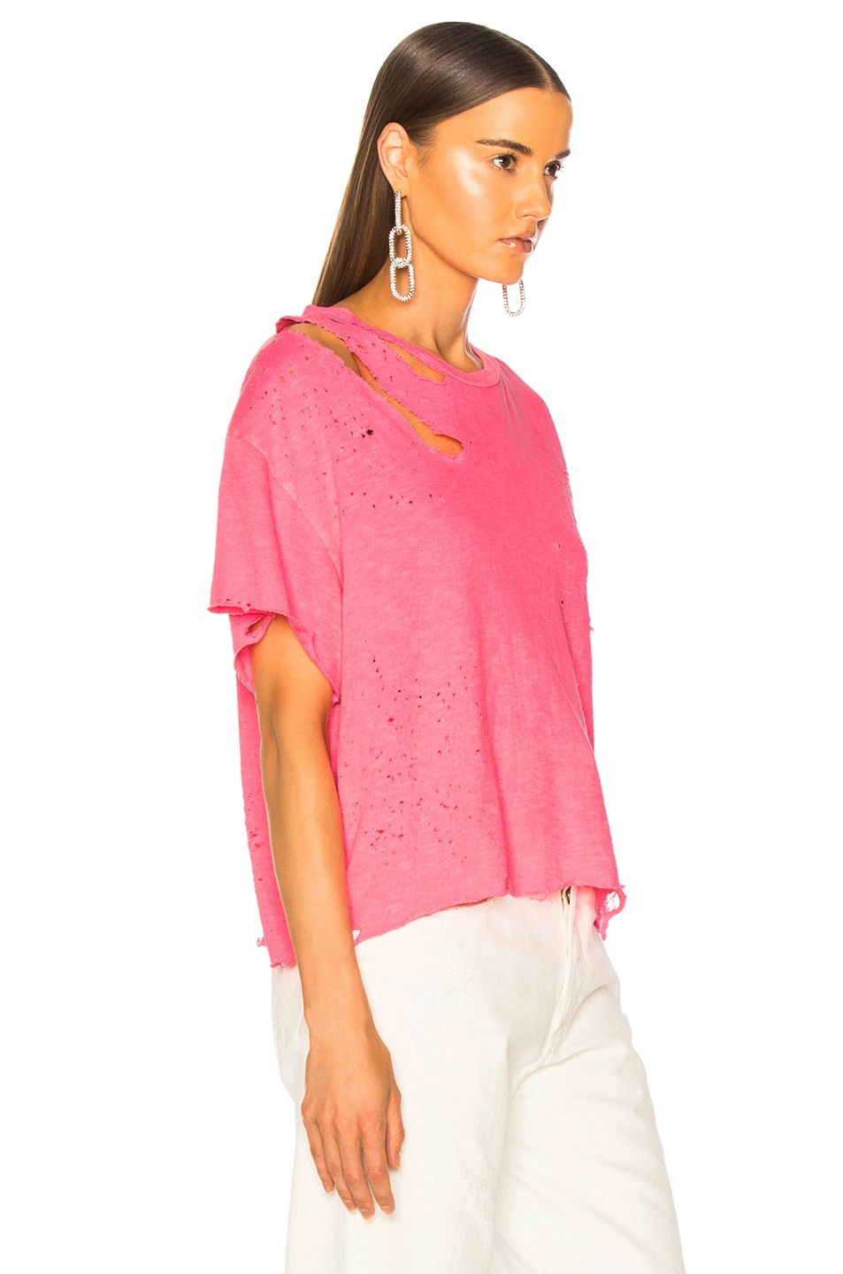 Image 3 of Amiri Slash Tee in Neon Pink