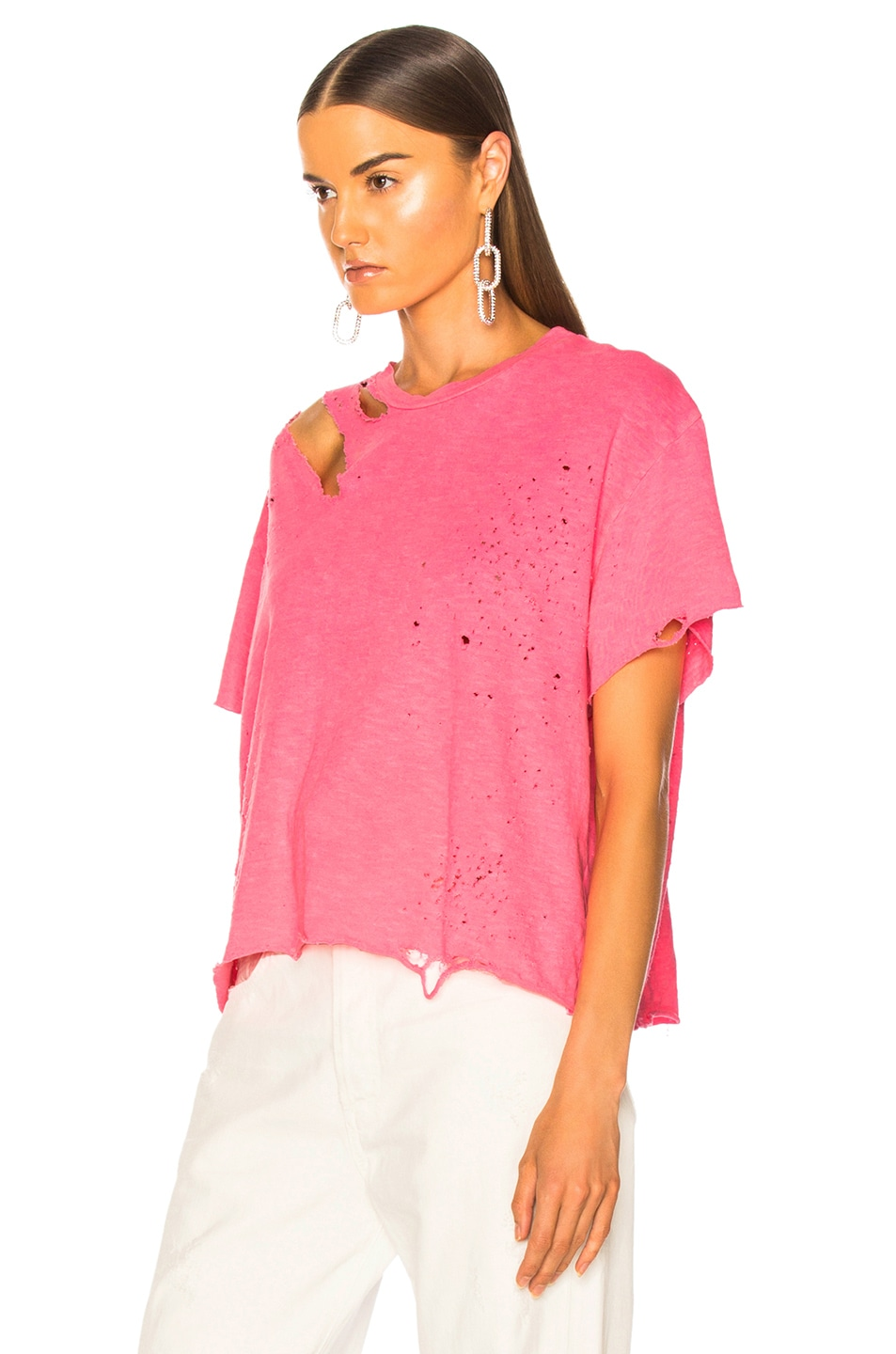 Image 4 of Amiri Slash Tee in Neon Pink
