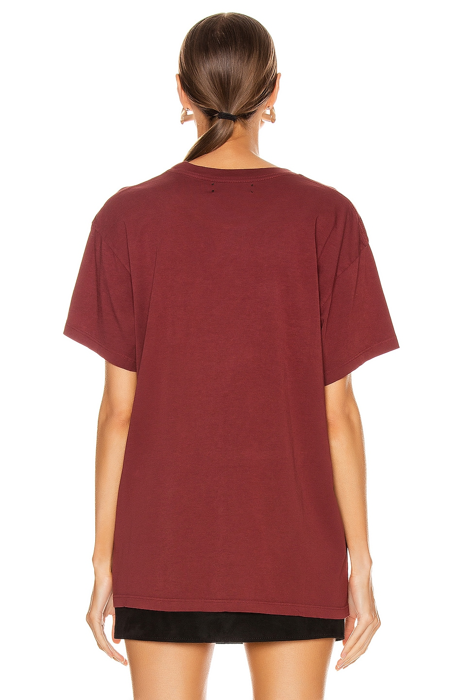 Image 4 of Amiri Beverly Hills T Shirt in Burgundy
