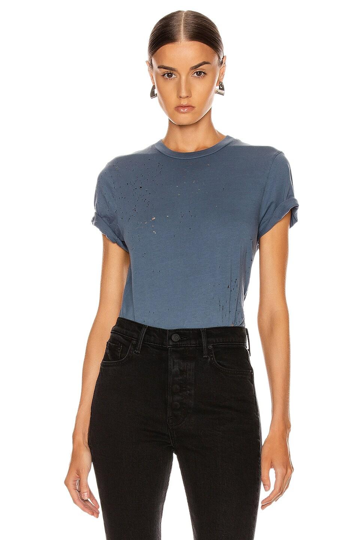 Image 1 of Amiri Shotgun T Shirt in Slate Blue