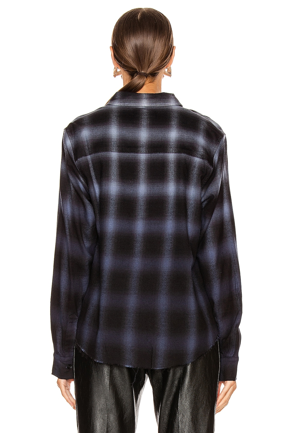 Image 3 of Amiri Ombre Plaid Shirt in Slate Blue