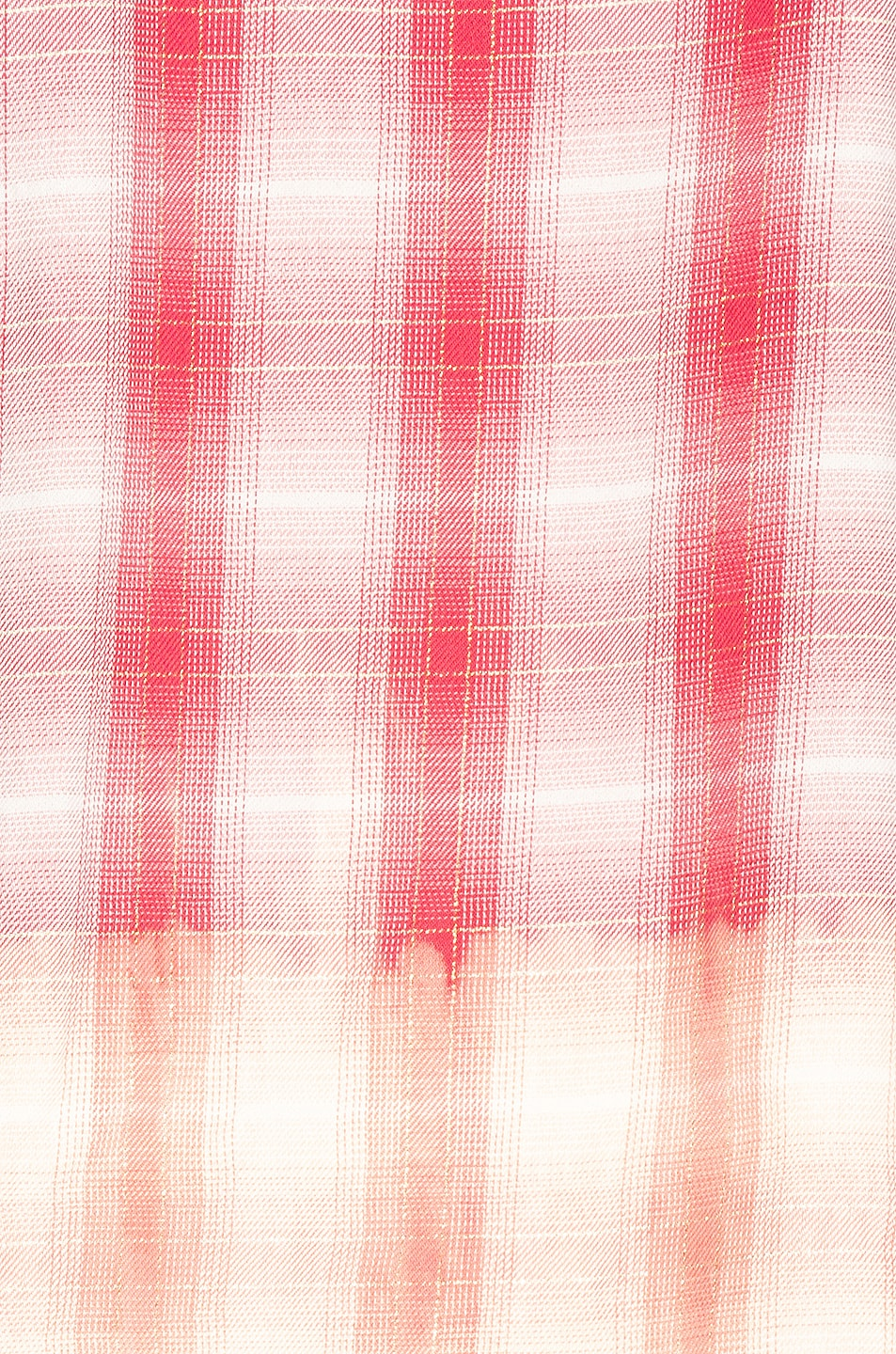 Image 6 of Amiri Ombre Lurex Plaid Flannel in Red