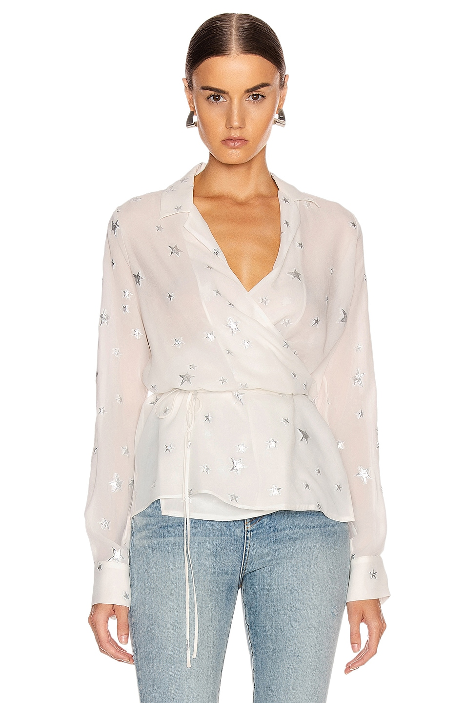 Image 1 of Amiri Stars Fil Coupe Wrap Top in Ivory