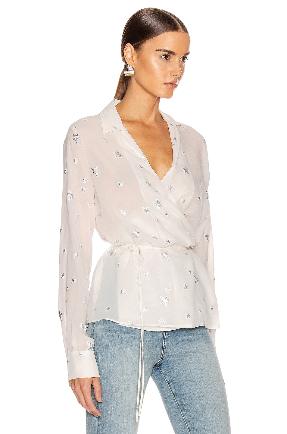 Image 2 of Amiri Stars Fil Coupe Wrap Top in Ivory