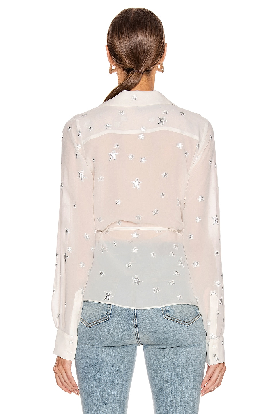 Image 3 of Amiri Stars Fil Coupe Wrap Top in Ivory
