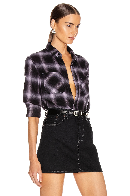 Image 3 of Amiri Shadow Plaid Flannel in Lavender