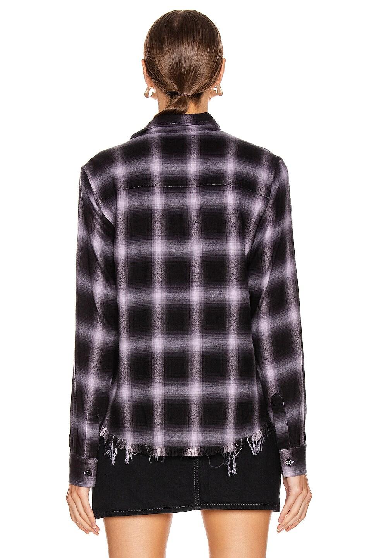 Image 4 of Amiri Shadow Plaid Flannel in Lavender
