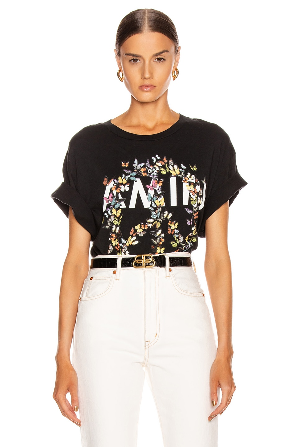 Image 1 of Amiri Peace Butterfly Tee in Black