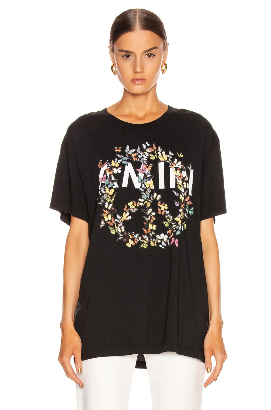 Image 2 of Amiri Peace Butterfly Tee in Black