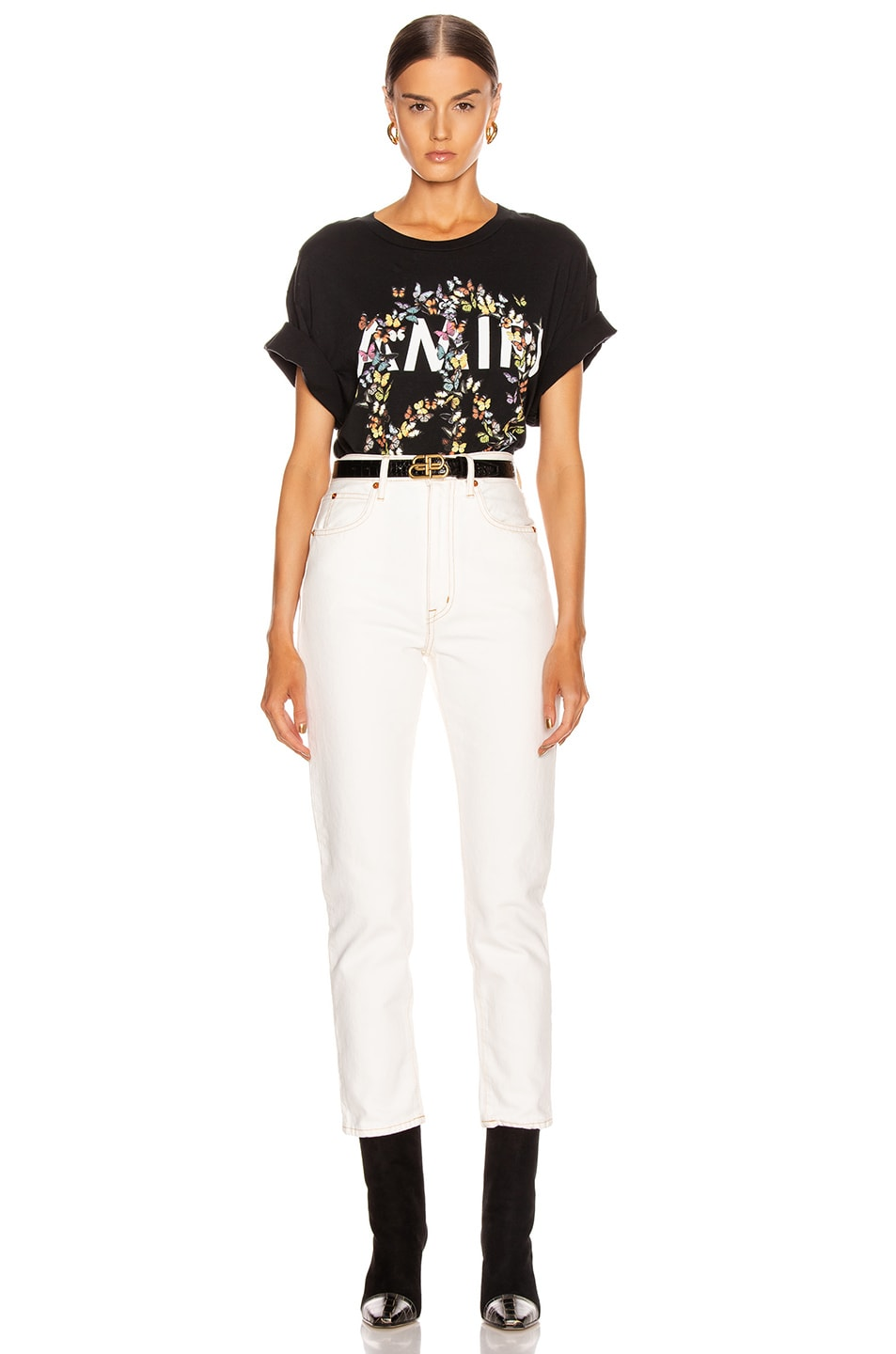 Image 5 of Amiri Peace Butterfly Tee in Black