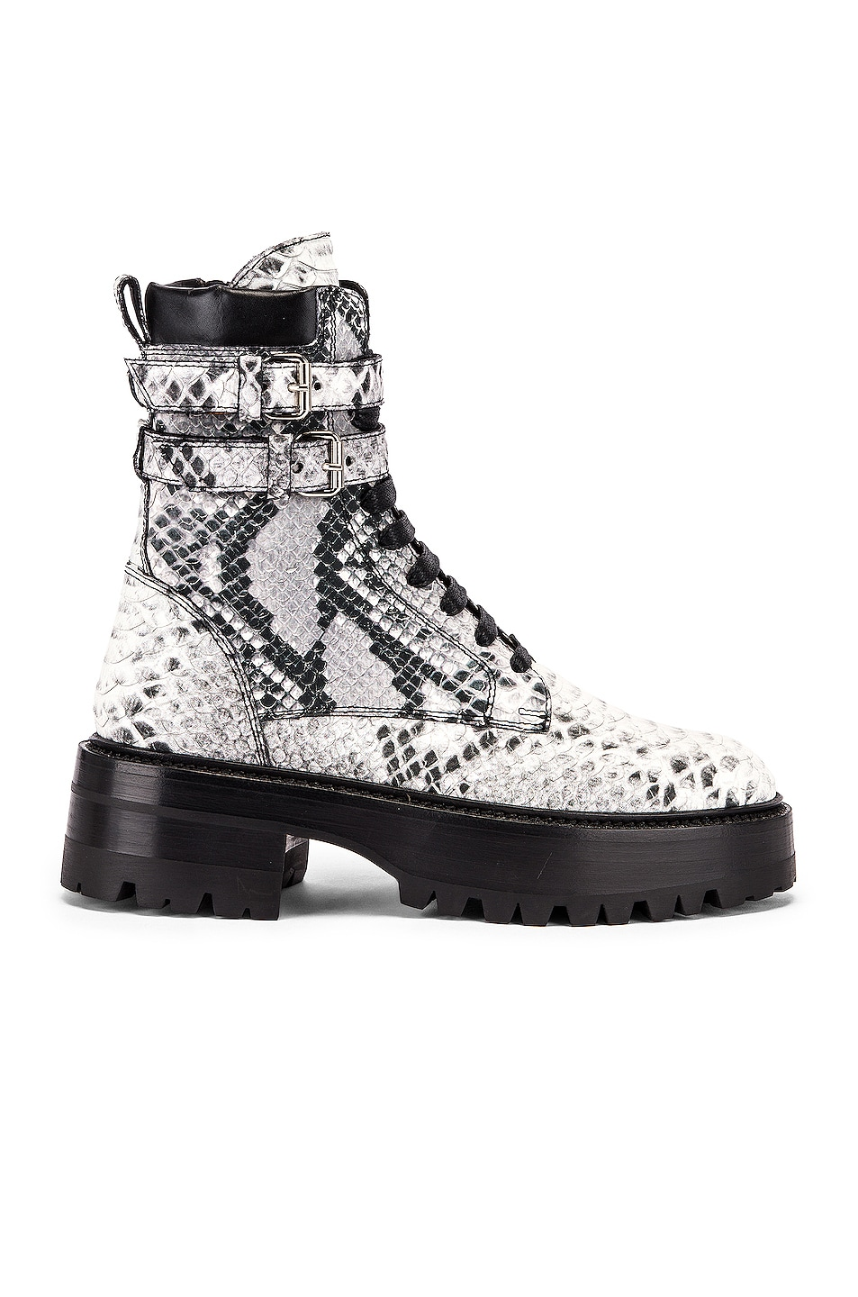 Image 1 of Amiri Embossed Python Combat Boot in Natural