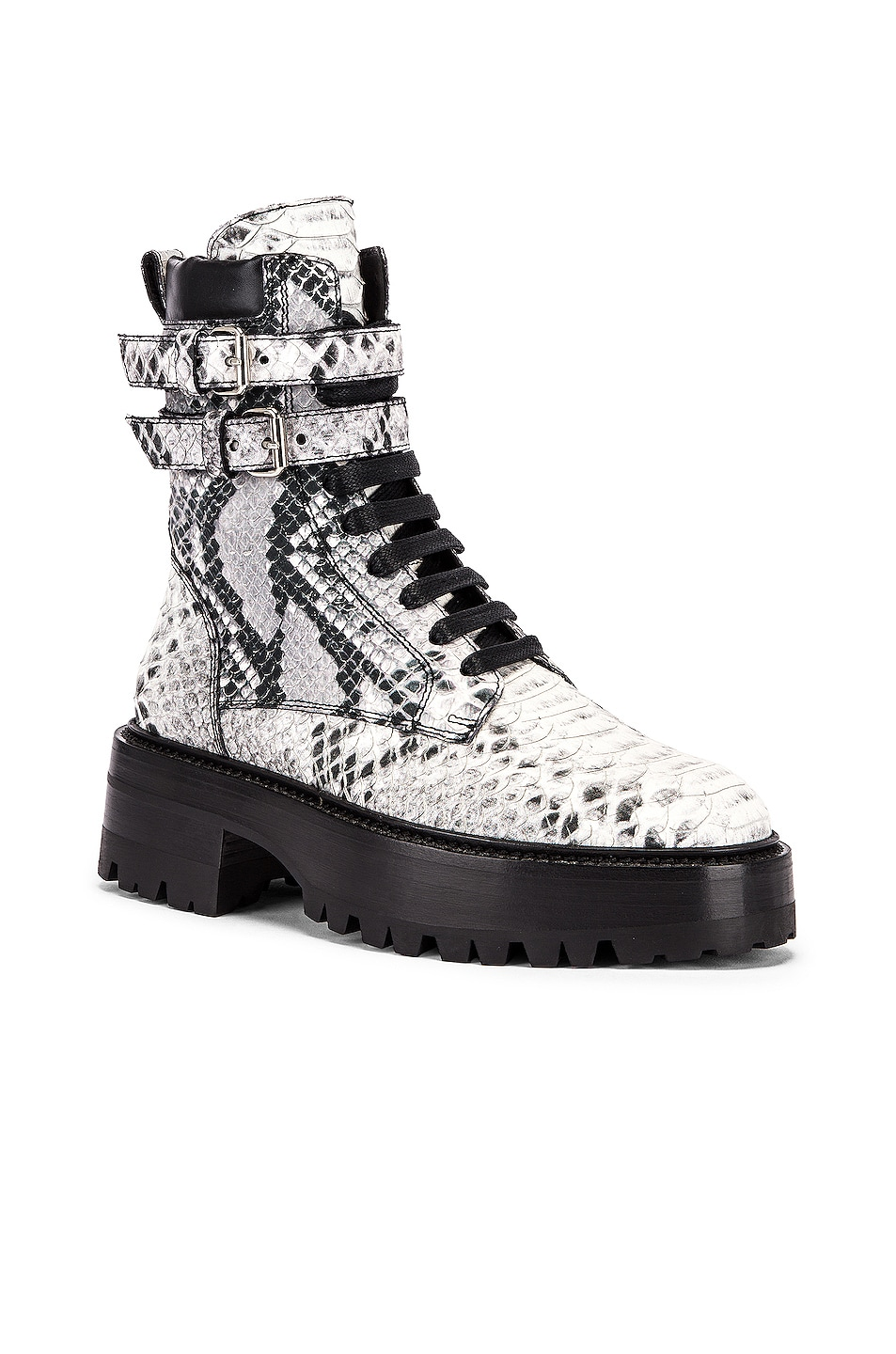 Image 2 of Amiri Embossed Python Combat Boot in Natural