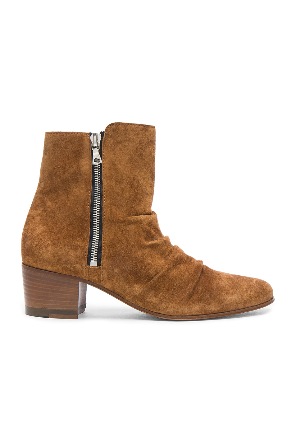 AMIRI Skinny Stack Suede Ankle Boots - Brown Size 9
