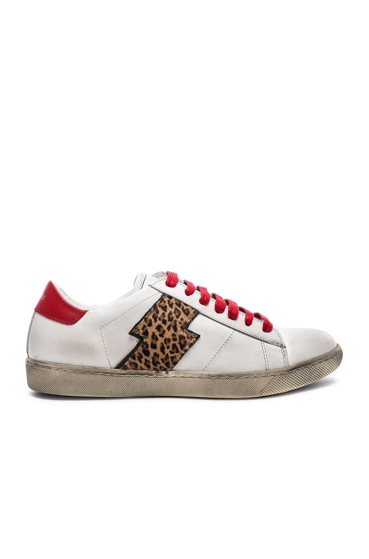 AMIRI Viper Leopard Calf Hair Low Sneakers in . H6PC1Dpg