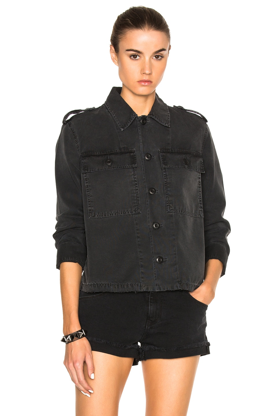 da0d72723e Image 2 of AMO Army Shirt Jacket in Washed Black