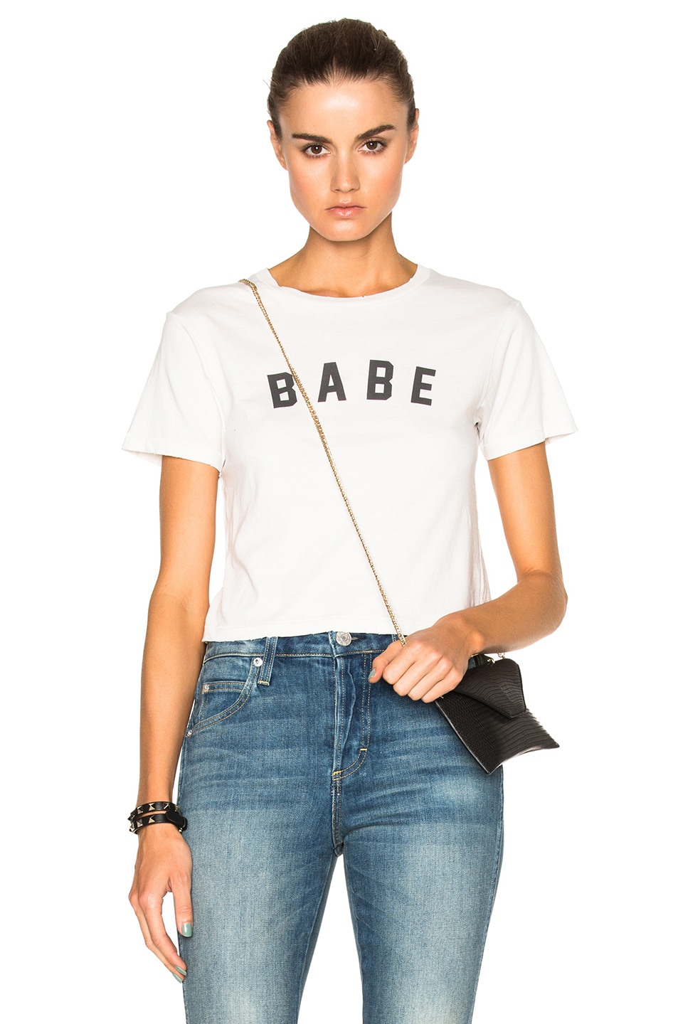 Image 1 of AMO Babe Tee in Dirty White