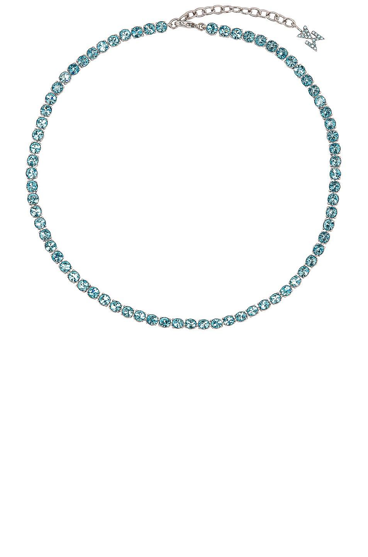 Image 1 of AMINA MUADDI Tennis Necklace in Aquabohemica
