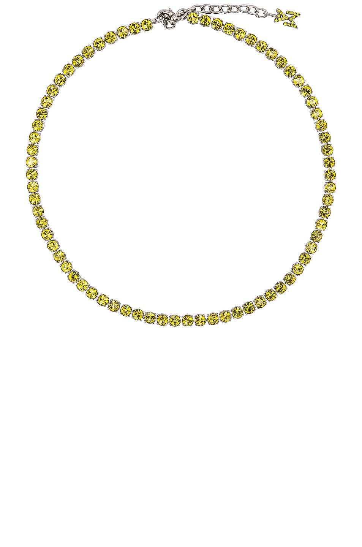 Image 1 of AMINA MUADDI Tennis Necklace in Citrine