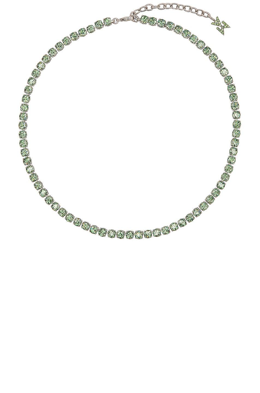 Image 1 of AMINA MUADDI Tennis Necklace in Peridot