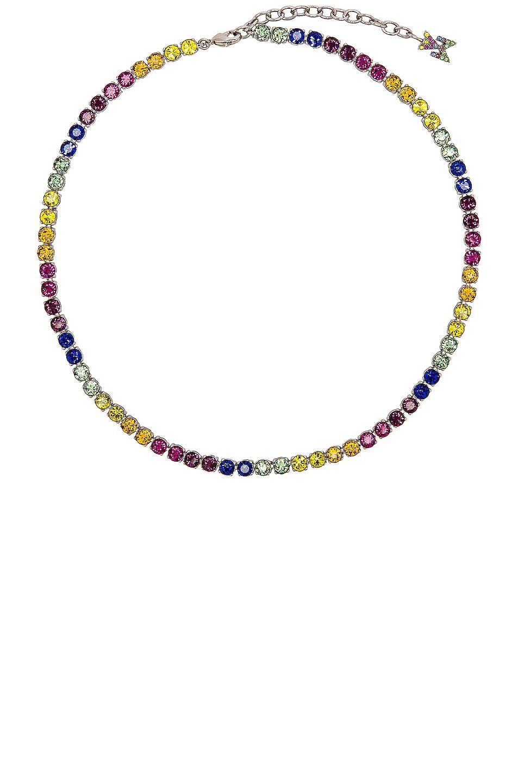 Image 1 of AMINA MUADDI Tennis Necklace in Rainbow