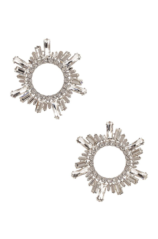 Image 1 of AMINA MUADDI Begum Crystal Earrings in White
