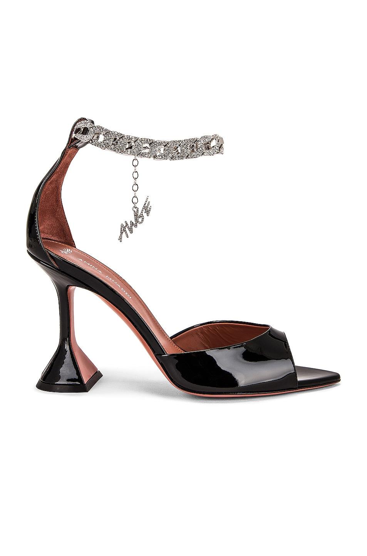 Image 1 of AMINA MUADDI x AWGE Flacko Sandal in Black & Silver Crystal