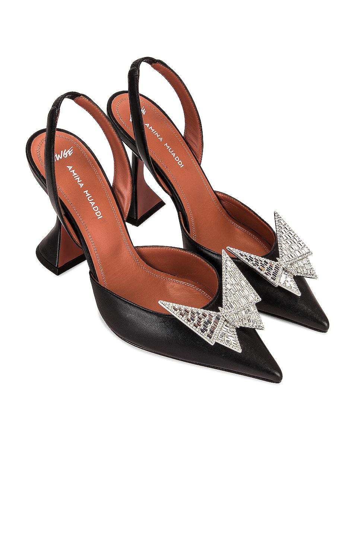 Image 1 of AMINA MUADDI x AWGE Phoenix Sling Heel in Black & Crystal