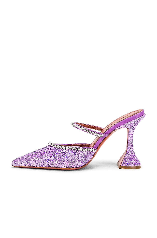 Image 5 of AMINA MUADDI Gilda Mule in Lilac Glitter