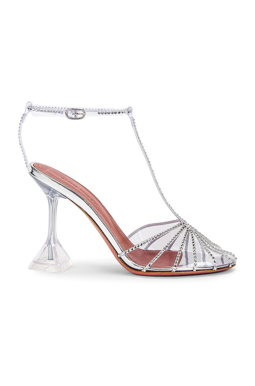 Image 1 of AMINA MUADDI Brygit T Pump Glass Heel in Transparent