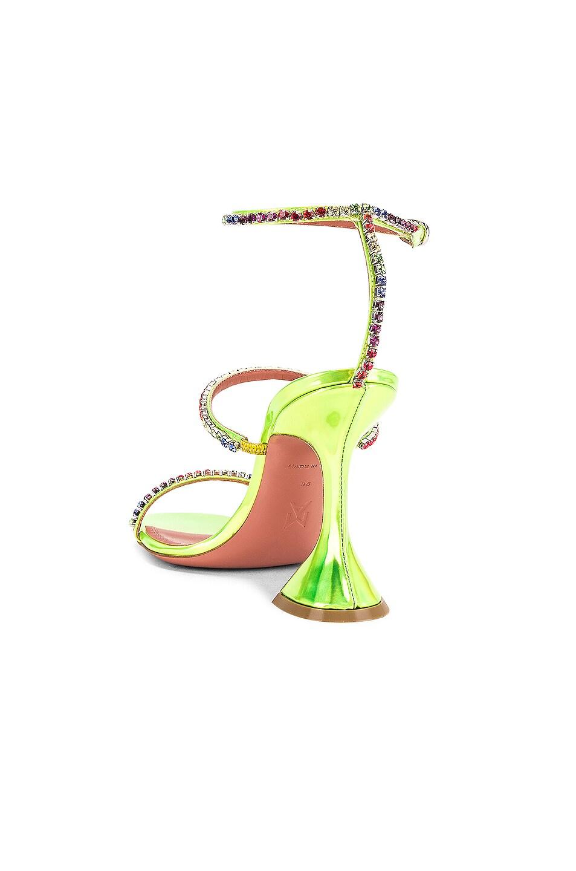 Image 3 of AMINA MUADDI Gilda Leather Sandal in Green Holographic & Rainbow