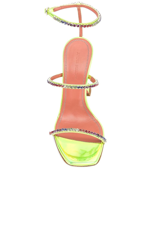 Image 4 of AMINA MUADDI Gilda Leather Sandal in Green Holographic & Rainbow