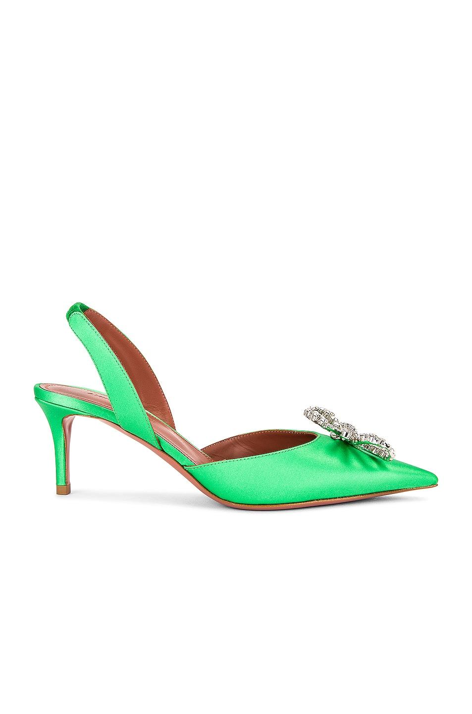 Image 1 of AMINA MUADDI Rosie 60 Sling Heel in Emerald Green