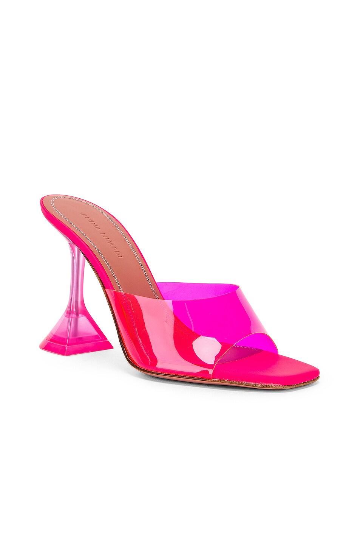 Image 2 of AMINA MUADDI Lupita Glass Sandal in Pink Fluo