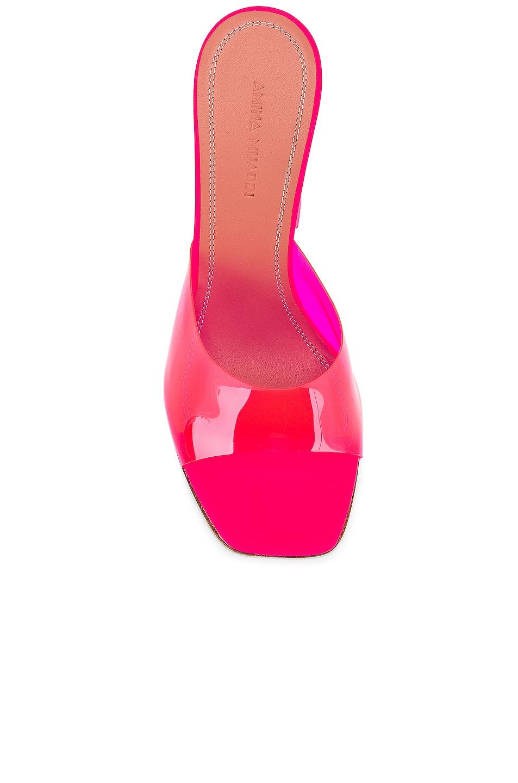 Image 4 of AMINA MUADDI Lupita Glass Sandal in Pink Fluo