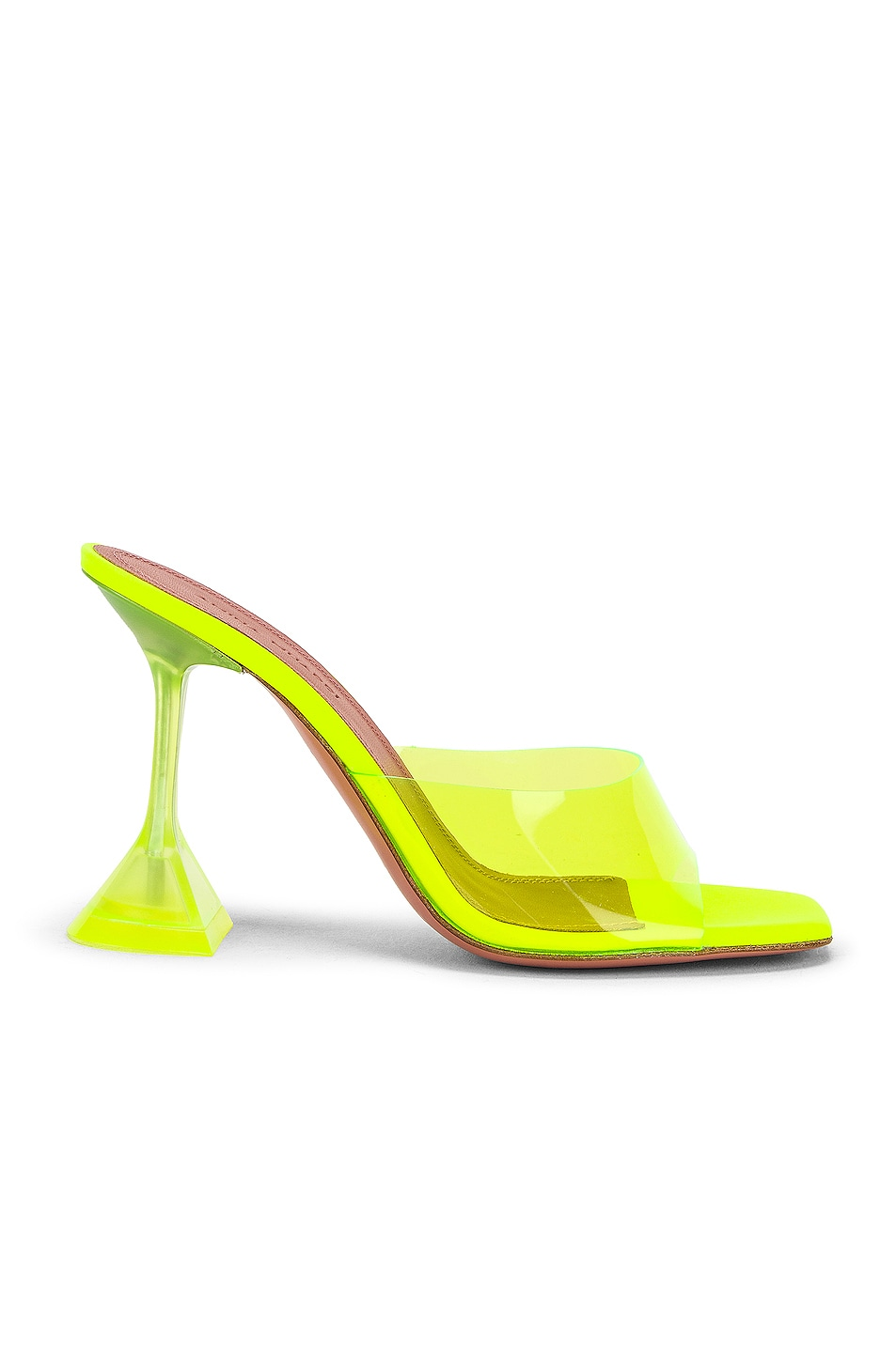 Image 1 of AMINA MUADDI Lupita Glass Sandal in Yellow Fluo